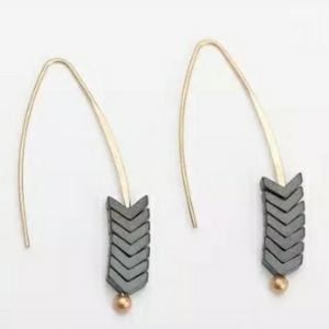 Beautifully unique earrings in gray